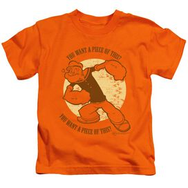 Popeye You Want A Piece Of This? Short Sleeve Juvenile Orange T-Shirt