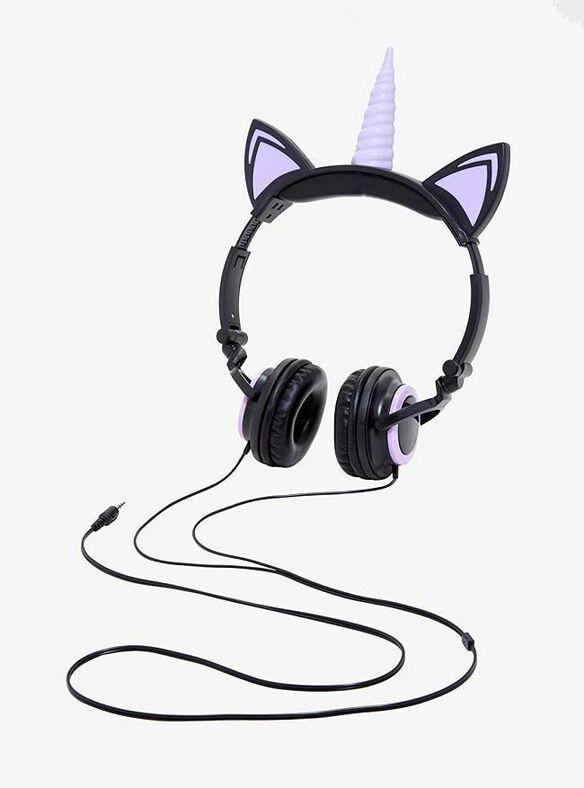Gabba Goods Unicorn LED Headphones [Black/Purple]