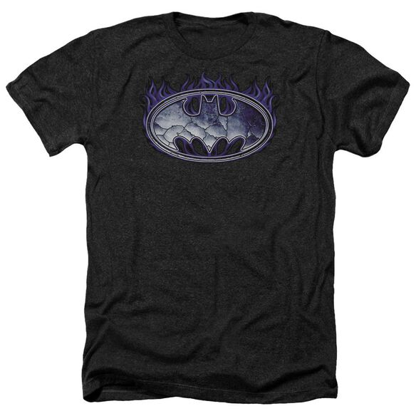 Batman Cracked Shield Adult Heather