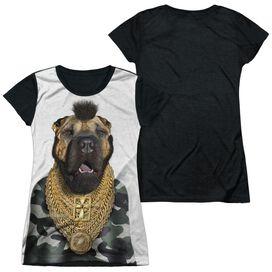 Pets Rock Fool Short Sleeve Junior Poly Black Back T-Shirt