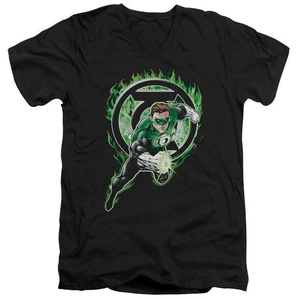 Green Lantern Space Cop Short Sleeve Adult V Neck T-Shirt