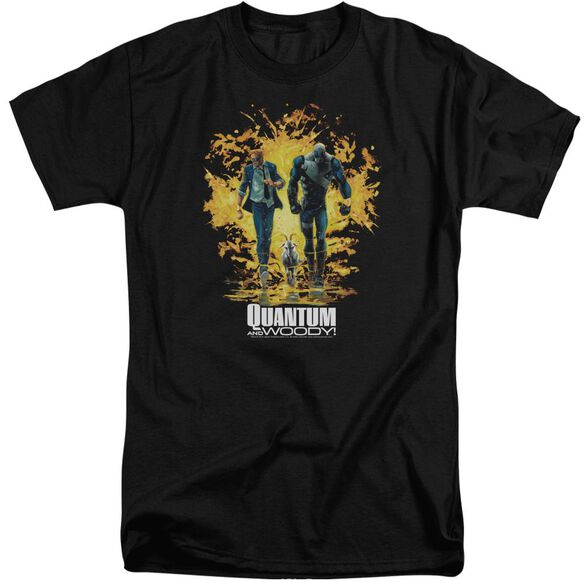 Quantum And Woody Explosion Short Sleeve Adult Tall T-Shirt