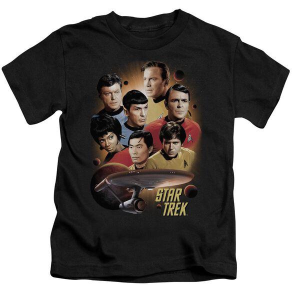 Star Trek Heart Of The Enterprise Short Sleeve Juvenile Black T-Shirt