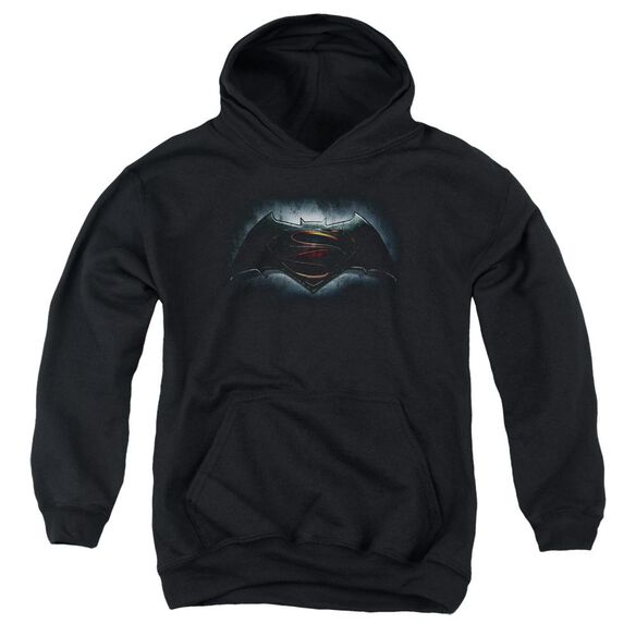 Batman V Superman Logo Youth Pull Over Hoodie