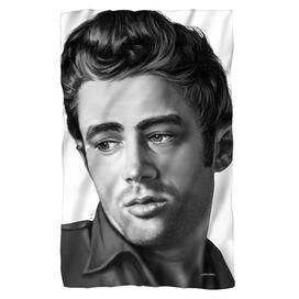 James Dean Stare Fleece Blanket