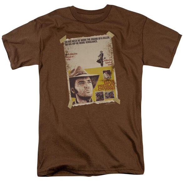 Elvis Charro Short Sleeve Adult Coffee T-Shirt