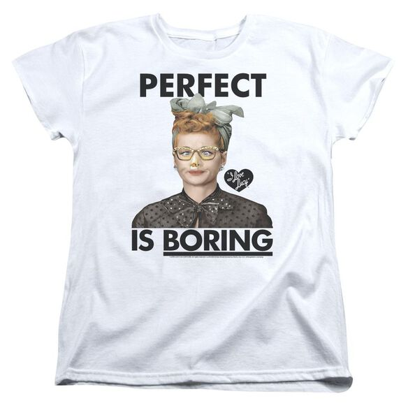 I Love Lucy Perfect Is Boring Short Sleeve Women's Tee T-Shirt