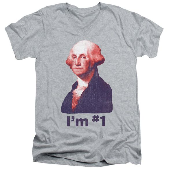 George No1 Short Sleeve Adult V Neck Athletic T-Shirt