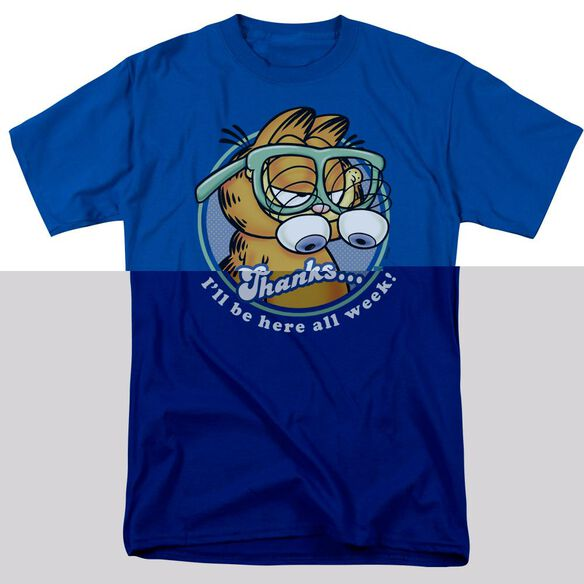 GARFIELD PERFORMING - S/S ADULT 18/1 - ROYAL BLUE T-Shirt