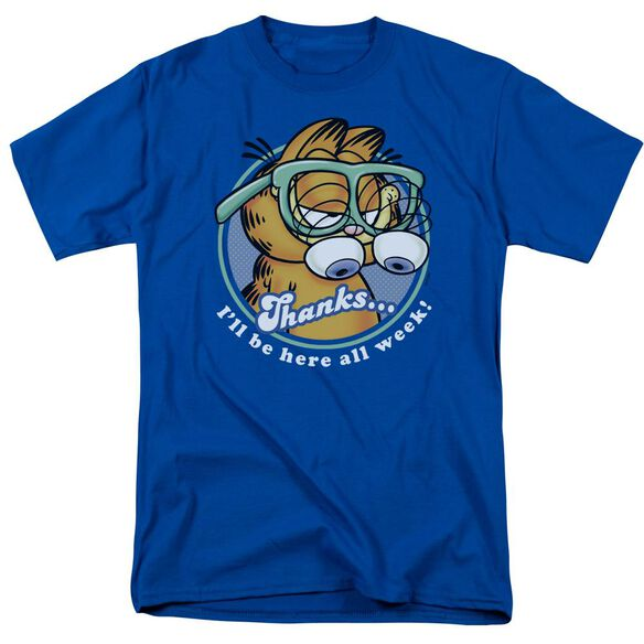 GARFIELD PERFORMING-S/S ADULT 18/1 - ROYAL BLUE T-Shirt