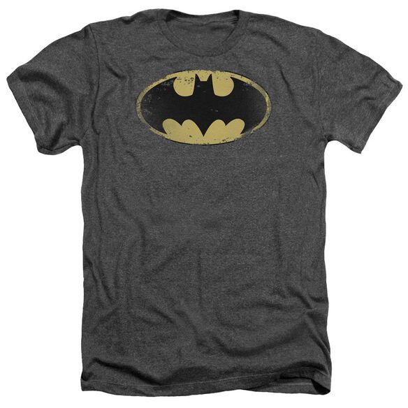 Batman Distressed Shield Adult Heather