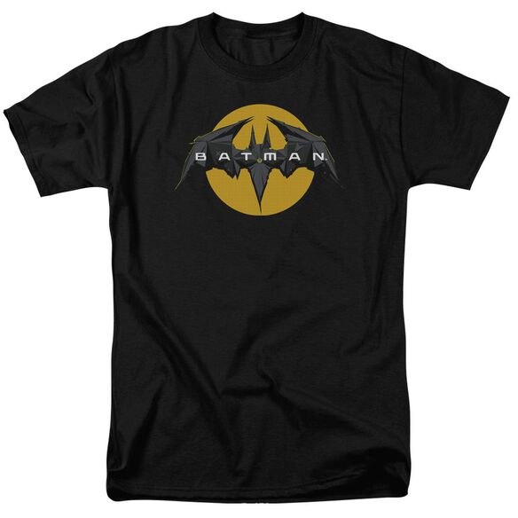Batman Unlimited Tech Logo Short Sleeve Adult Black T-Shirt
