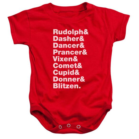 Reindeer Infant Snapsuit Red