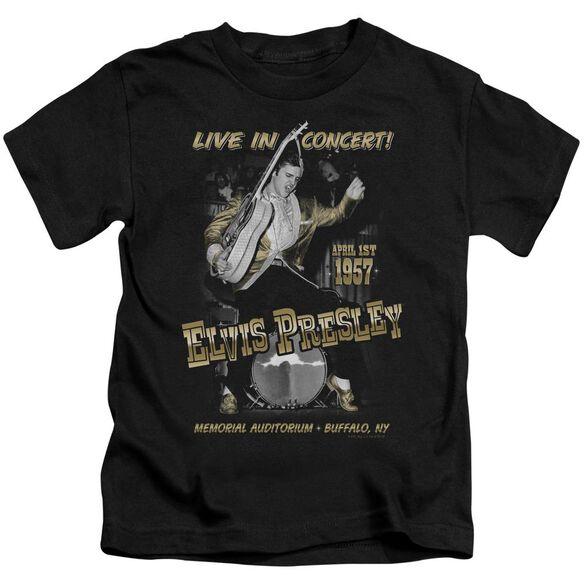Elvis Live In Buffalo Short Sleeve Juvenile Black T-Shirt