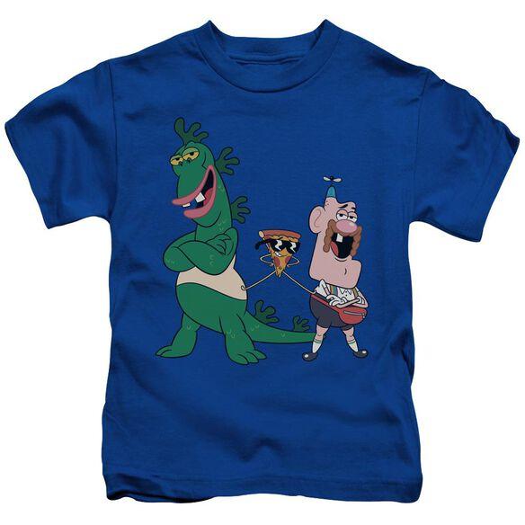 Uncle Grandpa The Guys Short Sleeve Juvenile Royal Blue T-Shirt