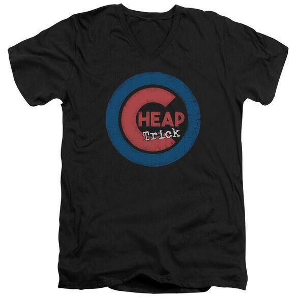 Cheap Trick Cheap Cub Short Sleeve Adult V Neck T-Shirt