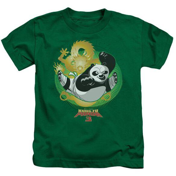 Kung Fu Panda Drago Po Short Sleeve Juvenile Kelly T-Shirt