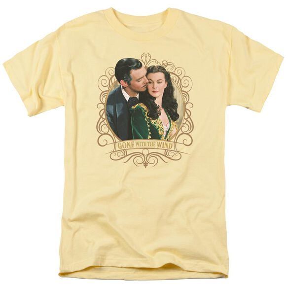 Gone With The Wind Gone Scrolling Short Sleeve Adult Banana T-Shirt