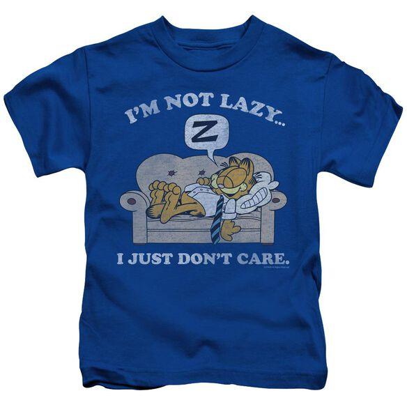 GARFIELD NOT LAZY - S/S JUVENILE 18/1 - ROYAL BLUE - T-Shirt