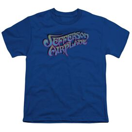 Jefferson Airplane Gradient Logo Short Sleeve Youth Royal T-Shirt