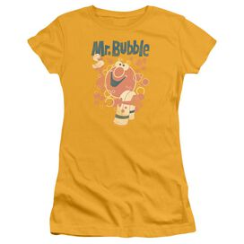 Mr Bubble Towel And Duckie Short Sleeve Junior Sheer T-Shirt