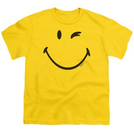 Smiley World Big Wink Short Sleeve Youth T-Shirt