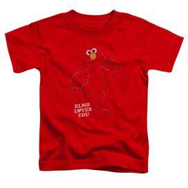 Sesame Street Elmo Loves You Short Sleeve Toddler Tee Red T-Shirt