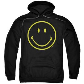 Smiley World Yellow Line Smiley Adult Pull Over Hoodie