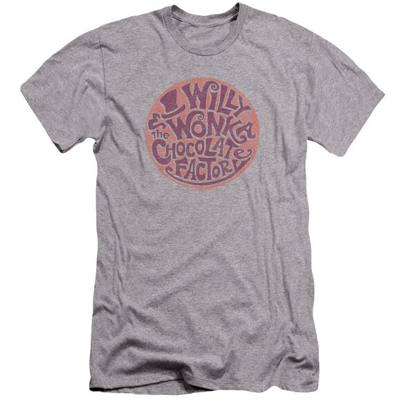 Willy Wonka And The Chocolate Factory Circle Logo Hbo Short Sleeve Adult Athletic T-Shirt