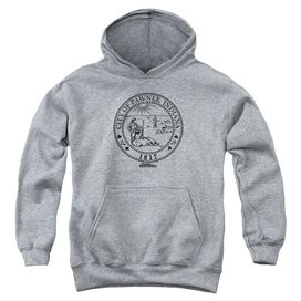 Parks And Rec Pawnee Seal Youth Pull Over Hoodie