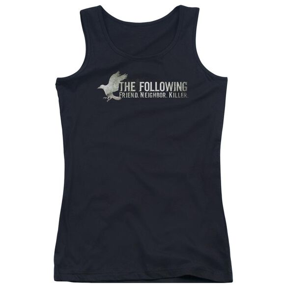 Following Raven Logo Juniors Tank Top