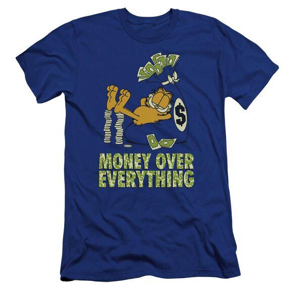 Garfield Money Is Everything Premuim Canvas Adult Slim Fit Royal