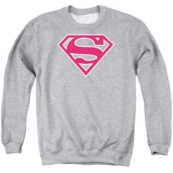 Superman Red &Amp; White Shield Adult Crewneck Sweatshirt Athletic