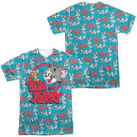 Tom And Jerry Double Trouble (Front Back Print) Short Sleeve Adult Poly Crew T-Shirt