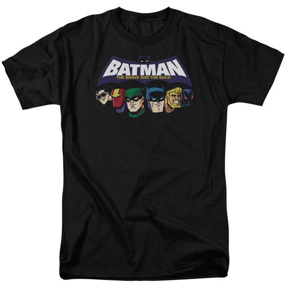 Batman Bb Head Lineup Short Sleeve Adult Black T-Shirt