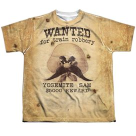 Looney Tunes Wanted Short Sleeve Youth Poly Crew T-Shirt