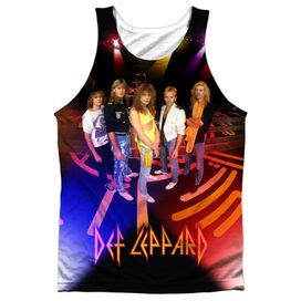 Def Leppard On Stage Adult 100% Poly Tank Top