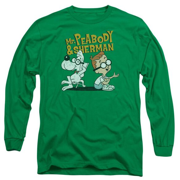 Mr Peabody & Sherman Deep Conversation Long Sleeve Adult Kelly T-Shirt