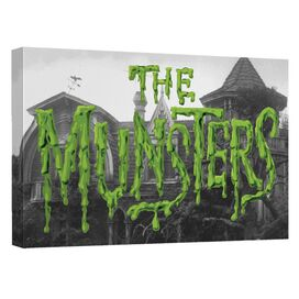 The Munsters Logo Canvas Wall Art With Back Board
