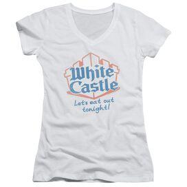 Castle Lets Eat Junior V Neck T-Shirt