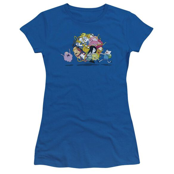 Adventure Time Glob Ball Short Sleeve Junior Sheer Royal T-Shirt