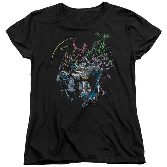 BATMAN SURROUNDED - S/S WOMENS TEE - BLACK T-Shirt