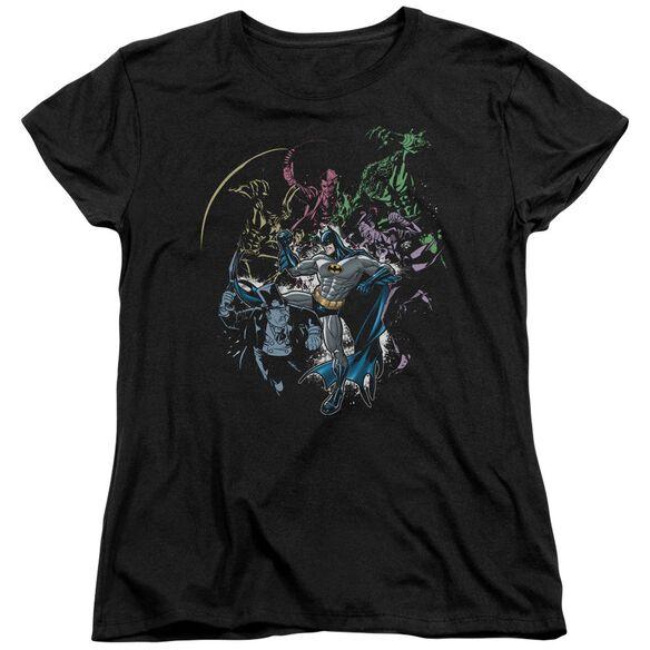 BATMAN SURROUNDED - S/S WOMENS TEE - BLACK T-Shirt