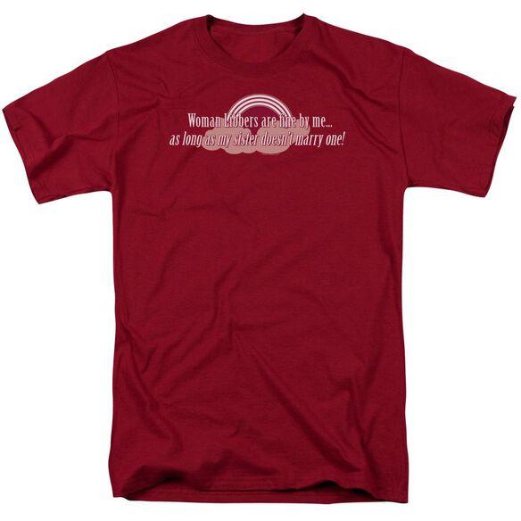 Women Libbers Short Sleeve Adult Cardinal T-Shirt