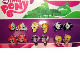 My Little Pony 6 Pair Stud Earrings Set
