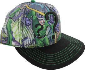 Riddler Panel Poses Sublimated Snap Hat