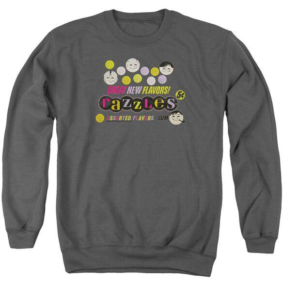 Dubble Bubble Razzles Retro Box Adult Crewneck Sweatshirt