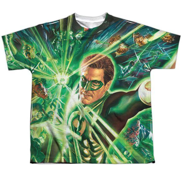 Green Lantern Lantern Burst Short Sleeve Youth Poly Crew T-Shirt