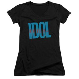 Billy Idol Logo Junior V Neck T-Shirt