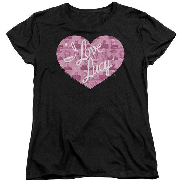 I Love Lucy Many Moods Logo Short Sleeve Womens Tee T-Shirt